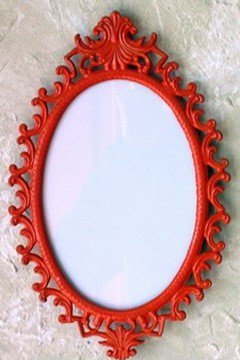 Fancy Red Mirror