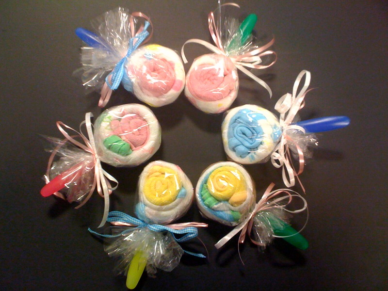 Babycloth lollypops